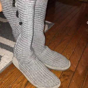 BearPaw Knit Tall Boots